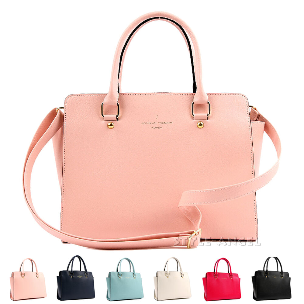 New Women Handbag Ladies Tote Cross Body Shoulder Bag Faux ...