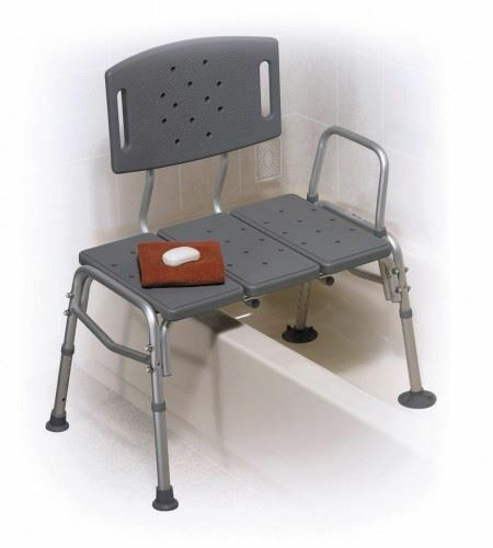 Plastic bathroom bath shower transfer bench chair seat ebay Transfer bath bench