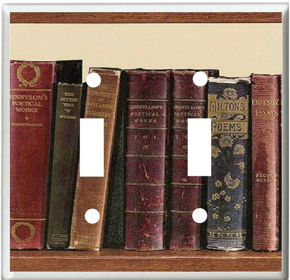 Http Www Ebay Com Itm Old Leather Bound Books Image Home Decor Light Switch Cover Plate Or Outlet 380864457160