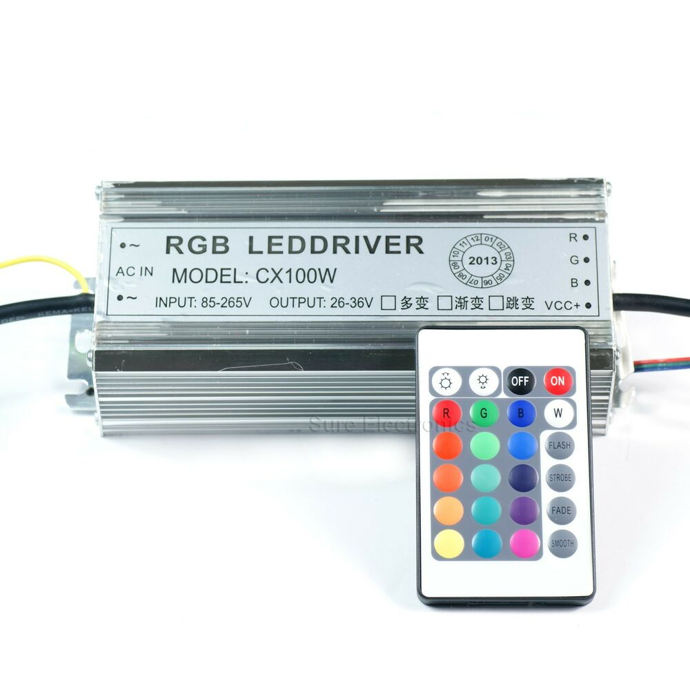 100w watt high power rgb led driver ac85v 265v waterproof. Black Bedroom Furniture Sets. Home Design Ideas