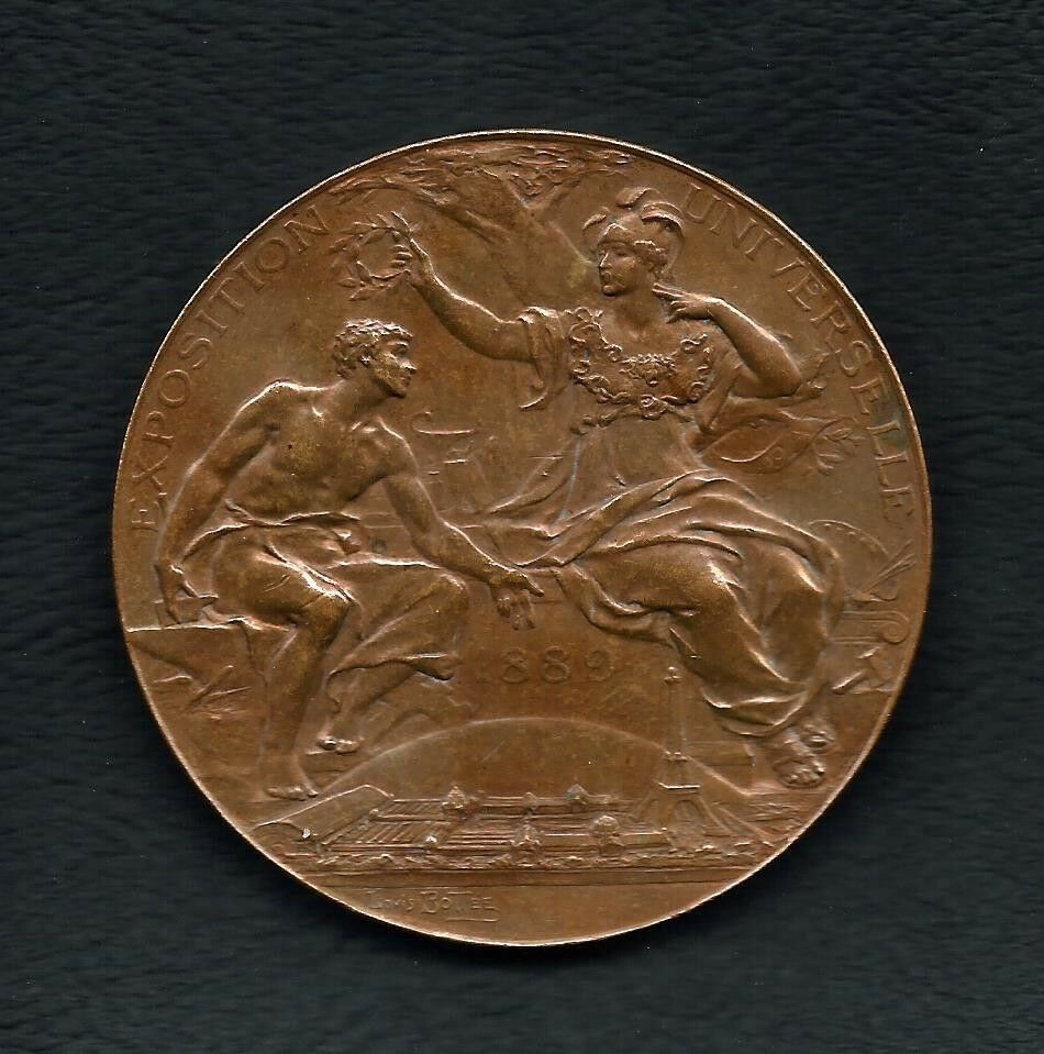 French 1889 exposition universelle paris bronze medal for 29 in french