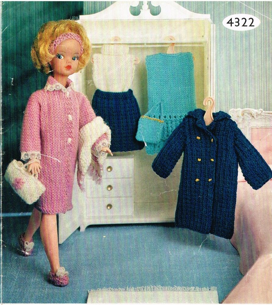 Knitting Wear Company : Quot teenage dolls clothes knitting pattern laminated copy