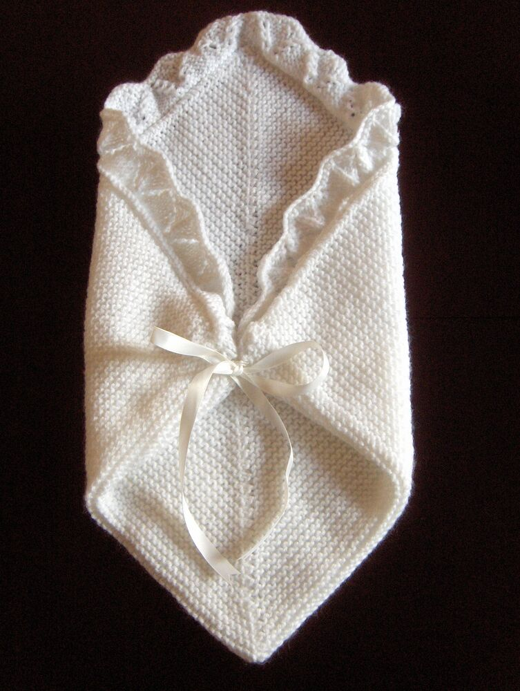 Knitting Pattern For Premature Baby Blanket : Premature Small Baby Knitting Pattern For Cuddle Blanket/ Angel Pocket DK   ...