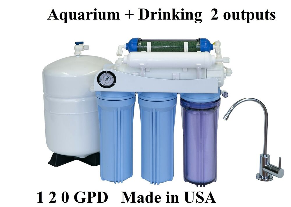 Aquarium drinking 120gpd reverse osmosis ro di water for Fish filter system