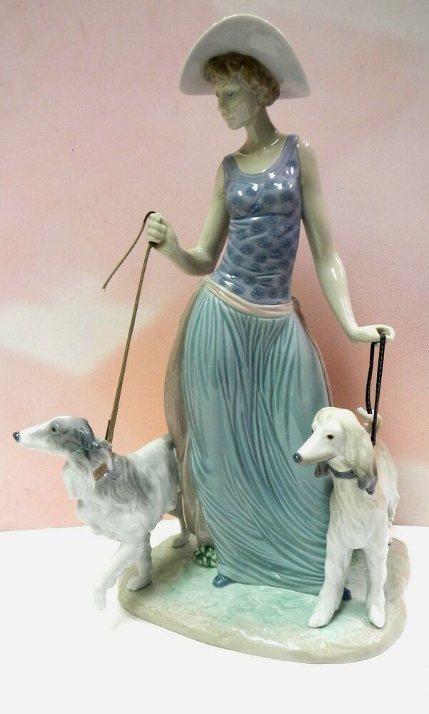 Business! well lladro asian oriental man beard dog