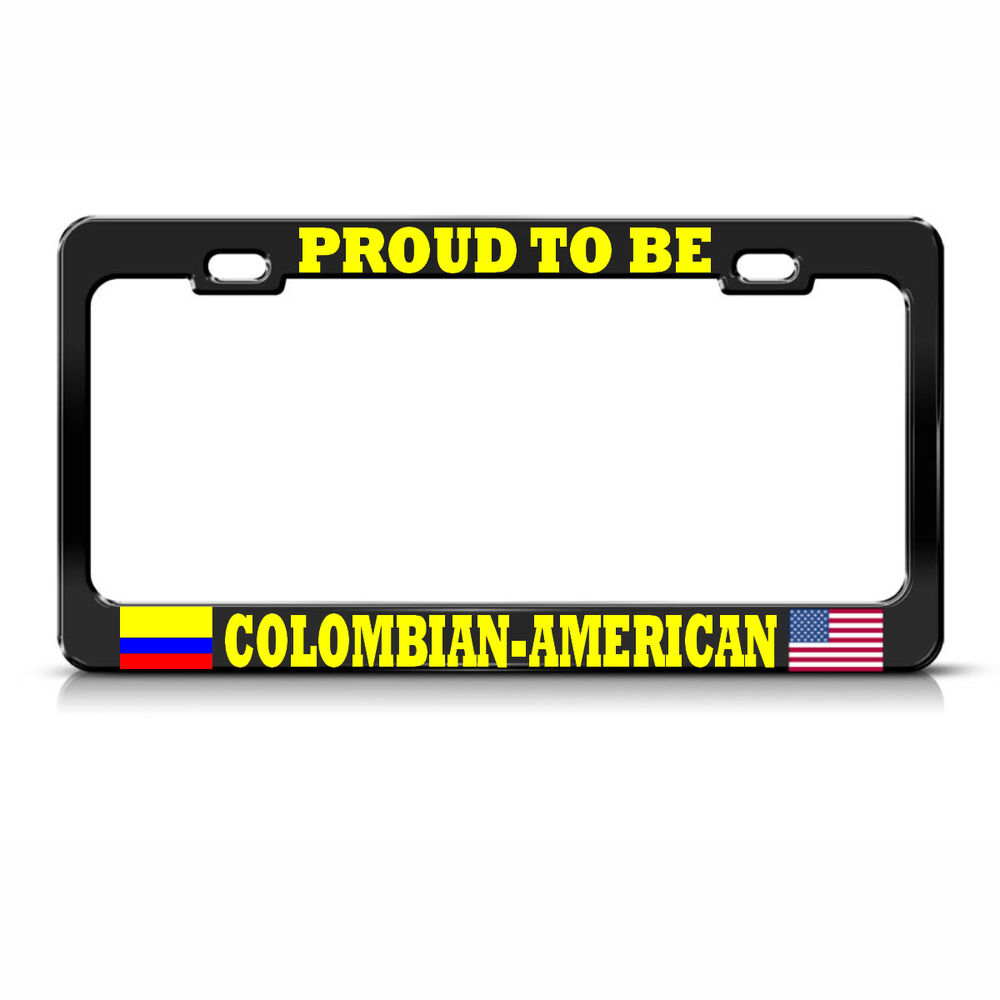 Colombia License Plate Frame: PROUD COLOMBIAN AMERICAN License Plate Frame COLOMBIA FLAG