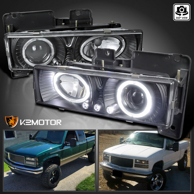 1988-1998 Chevy C10 Pickup Suburban Halo LED Projector ...