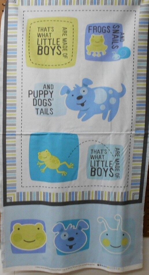 1 panel quilting treasures what little boys are made of for Little boy fabric