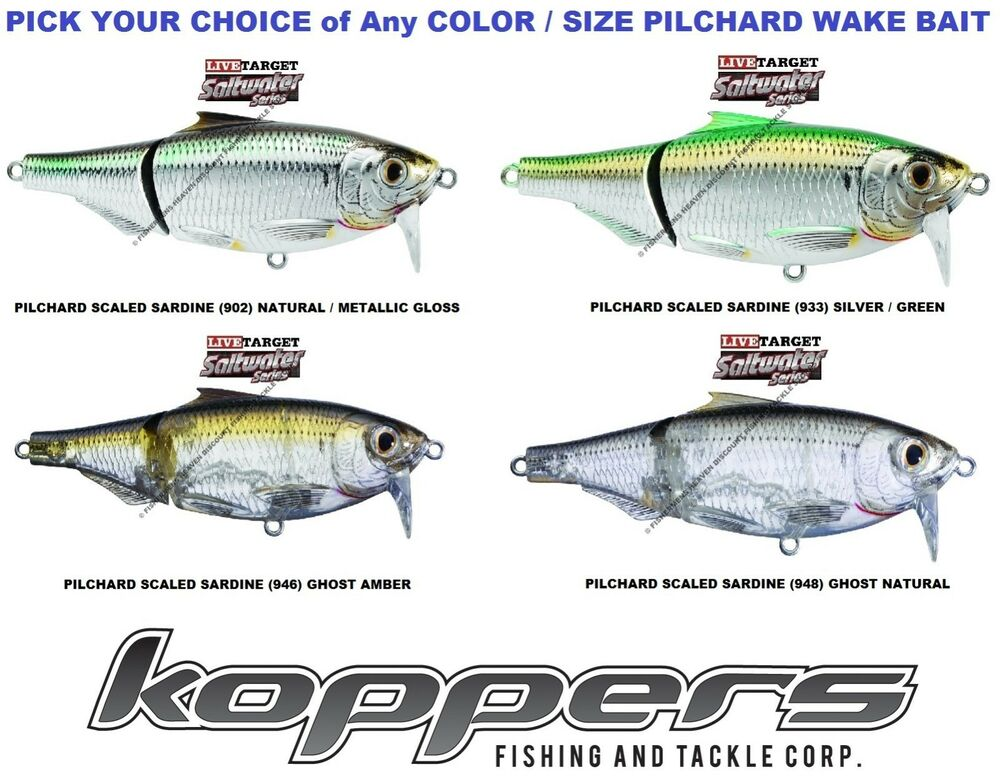 Koppers live target sardine pilchard wake bait saltwater for What saltwater fish are in season now