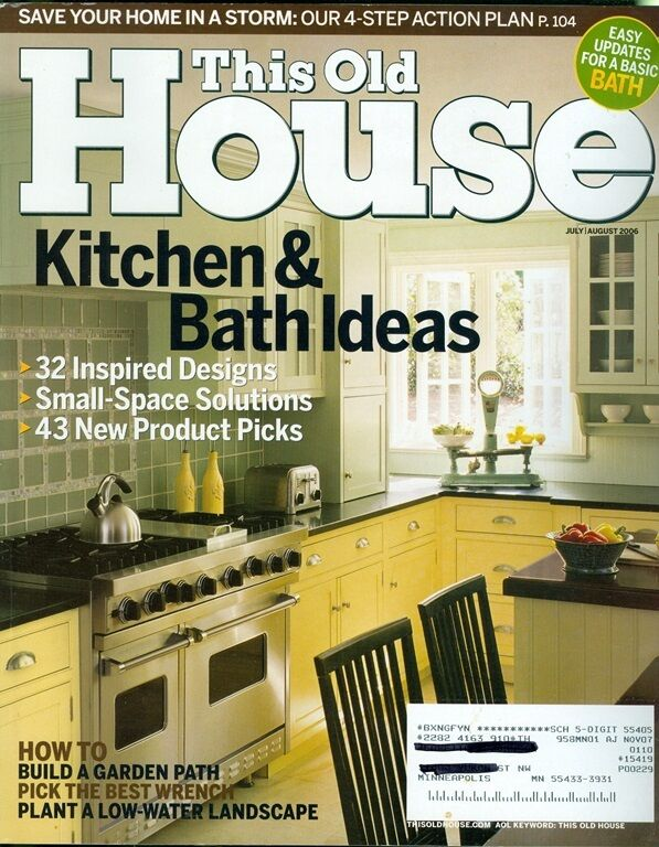 2006 this old house magazine kitchen bath ideas new for Classic house 2006