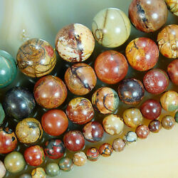 Kyпить Natural Colorful Picasso Round Beads 15.5 4mm 6mm 8mm 10mm 12mm Pick Size на еВаy.соm