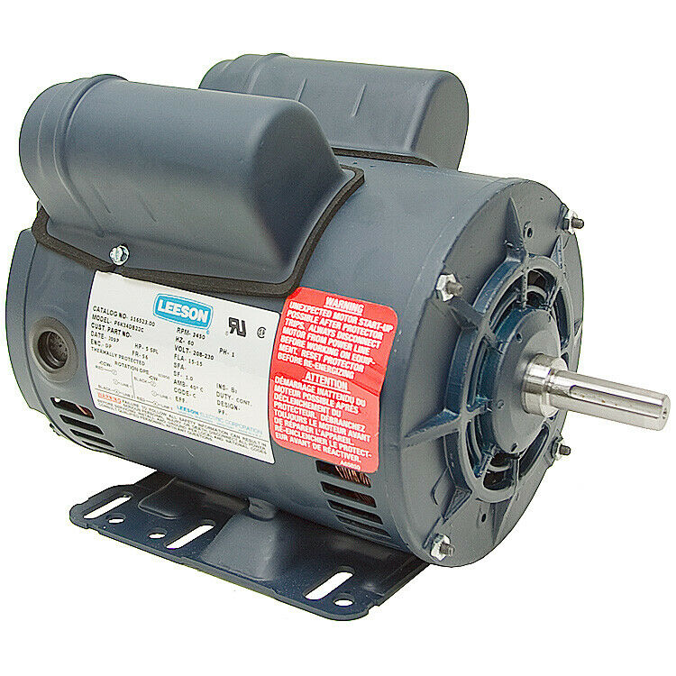 5 hp compressor motor 230 volts 3450 rpm 5 8 shaft for Compressor duty electric motors