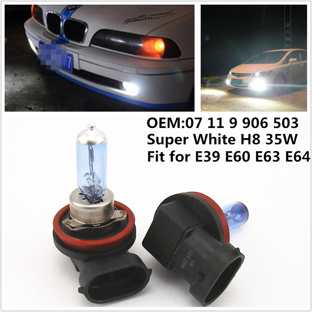Super White H8 35w Xenon Hid Halogen Fog Light Head Light