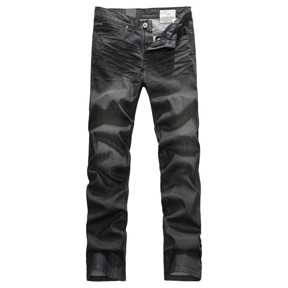 new mens foxjeans denim men 39 s black jeans size 30 32 34 36 38 40 42 44 ebay. Black Bedroom Furniture Sets. Home Design Ideas