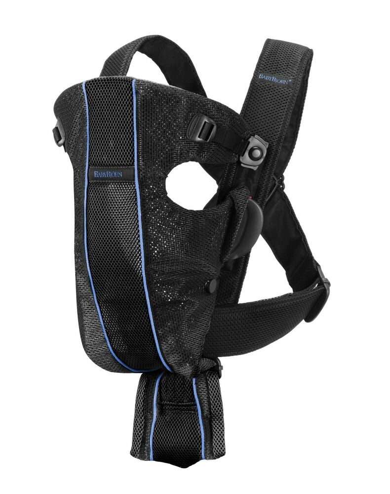 Baby Bjorn Baby Carrier Air Black Blue Brand New Ebay