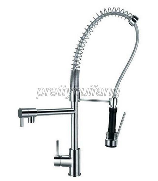 Chrome Commercial & Home Pull Out Spray Kitchen Sink Mixer Tap ...