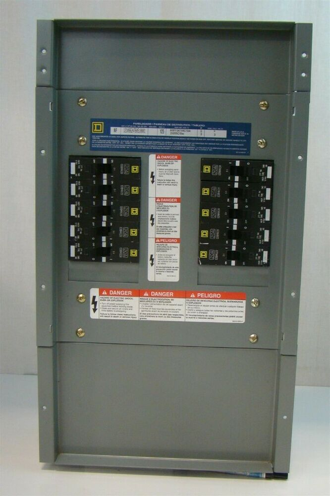 Square D 125a 240vac Nf Panel With Edb Breakers