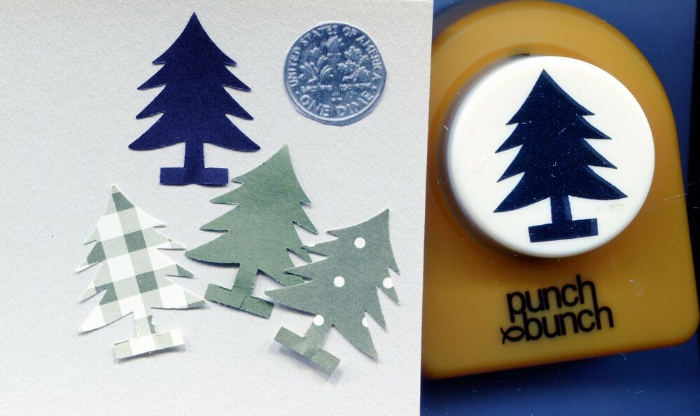 Large Xmas Tree On Stand Shape Paper Punch Scrapbooking