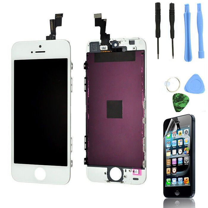 iphone 5s replacement screen white lcd display touch screen digitizer assembly 14855