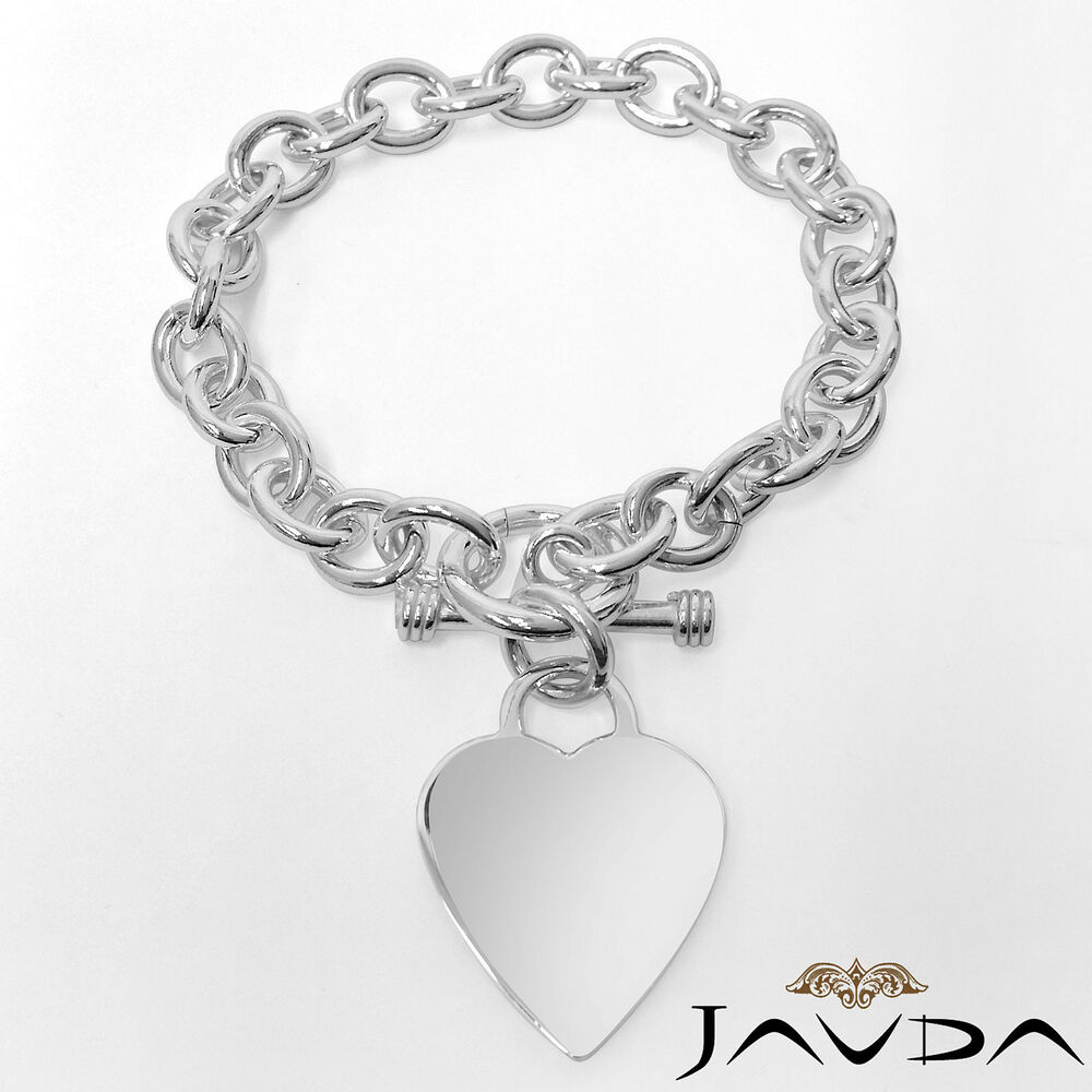 Heart Rolo Chain Link 925 Sterling Silver Gorgeous Women S