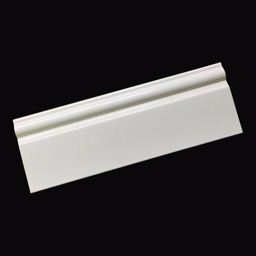 skirting board 95mm x bathroom cladding trim plastic ebay