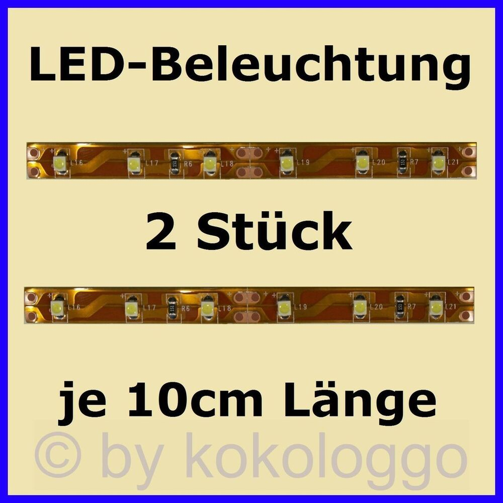 s332 2 st ck led hausbeleuchtung 10cm warmwei modell beleuchtung h user ebay. Black Bedroom Furniture Sets. Home Design Ideas
