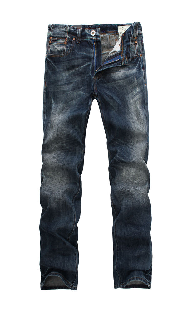 new mens foxjeans denim men 39 s blue jeans size 30 32 34 36 38 40 42 44 ebay. Black Bedroom Furniture Sets. Home Design Ideas