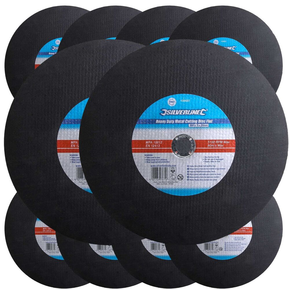 10 300mm Metal Cutting Cut Off Saw Discs 20mm Bore X 3mm