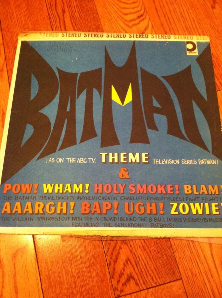 1966 Record Album Lp Batman Theme The Bat Boys Design