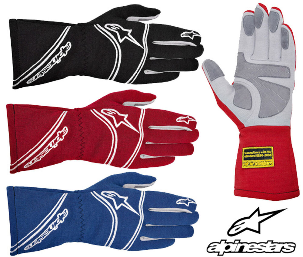 alpinestars tech 1 start race gloves fia approved nomex oval racing rally ebay. Black Bedroom Furniture Sets. Home Design Ideas