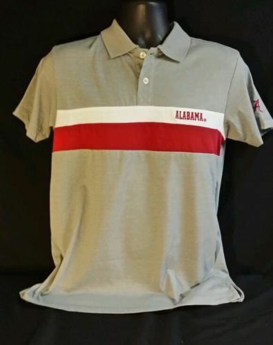 University of alabama men 39 s gray white and crimson short for University of alabama polo shirts