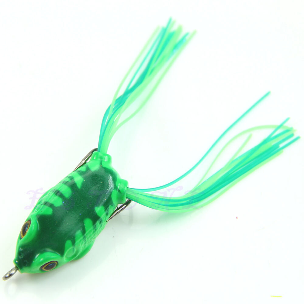 1pc small ray frog topwater fishing lures crankbait sharp for Topwater fishing lure