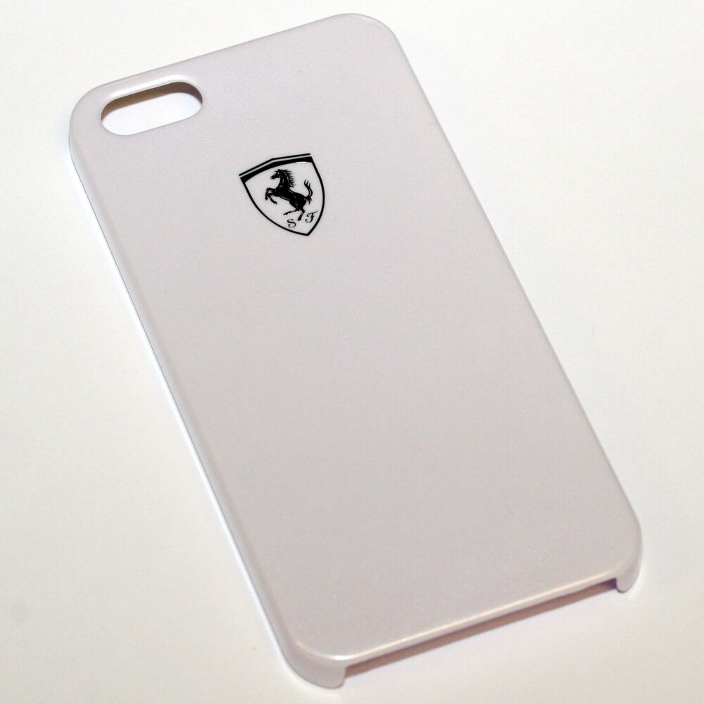 Ferrari Iphone 5 5s High Gloss White Cell Phone Case By