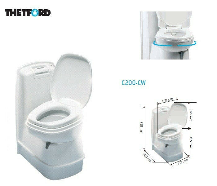 thetford cassettentoilette cassette c200 cw incl. Black Bedroom Furniture Sets. Home Design Ideas