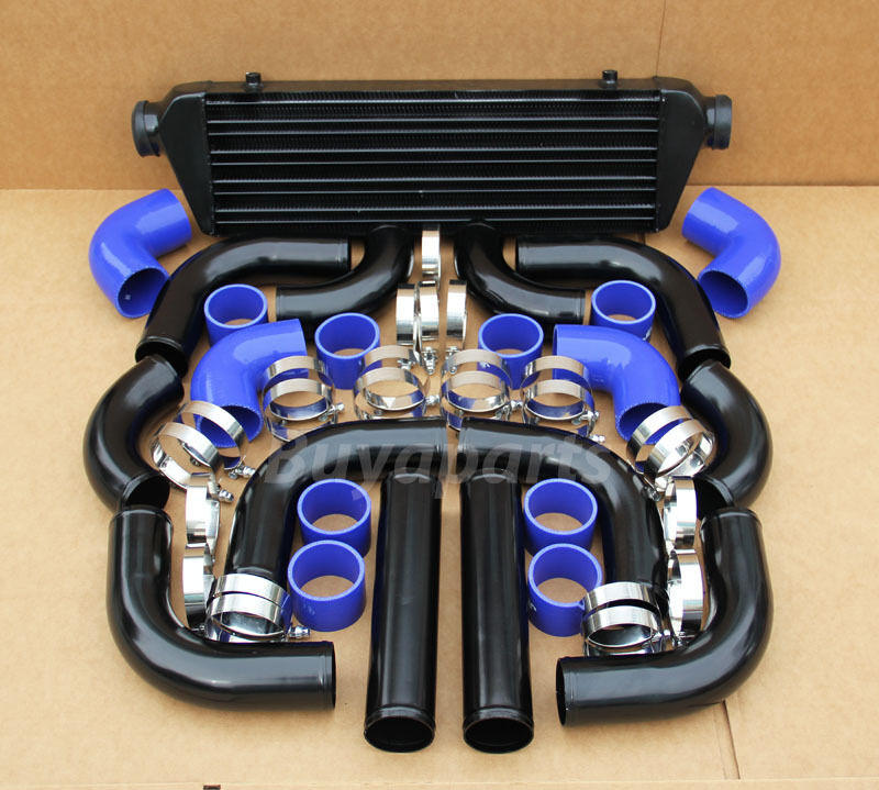 Supercharger Kits For Jeep 2 5: 2.5' BLACK PIPING+ Intercooler KIT+ BLUE COUPLER CLAMP