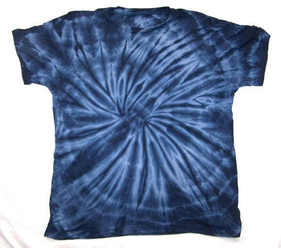 Petite navy blue spider tye dyed tee shirt unisex size med for Black and blue tie dye t shirts