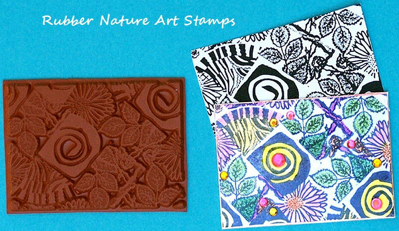 Atc Artist Trading Card Size Unmounted Rubber Stamp For border=