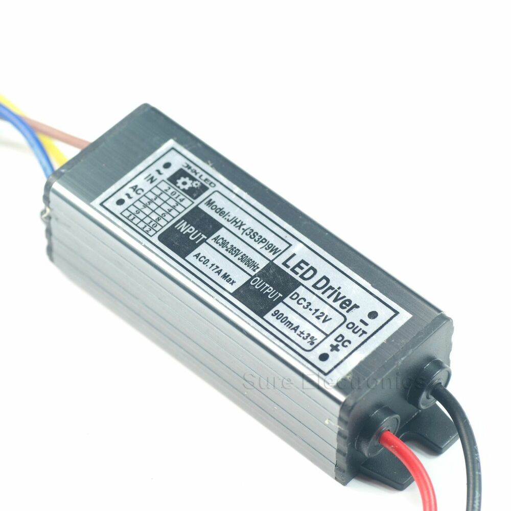 10w watt high power led driver power supply waterproof 9 12v ebay. Black Bedroom Furniture Sets. Home Design Ideas