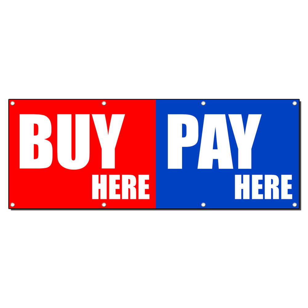 Buy Here: BUY HERE PAY HERE Promotion Business Sign Banner 3' X 6' W