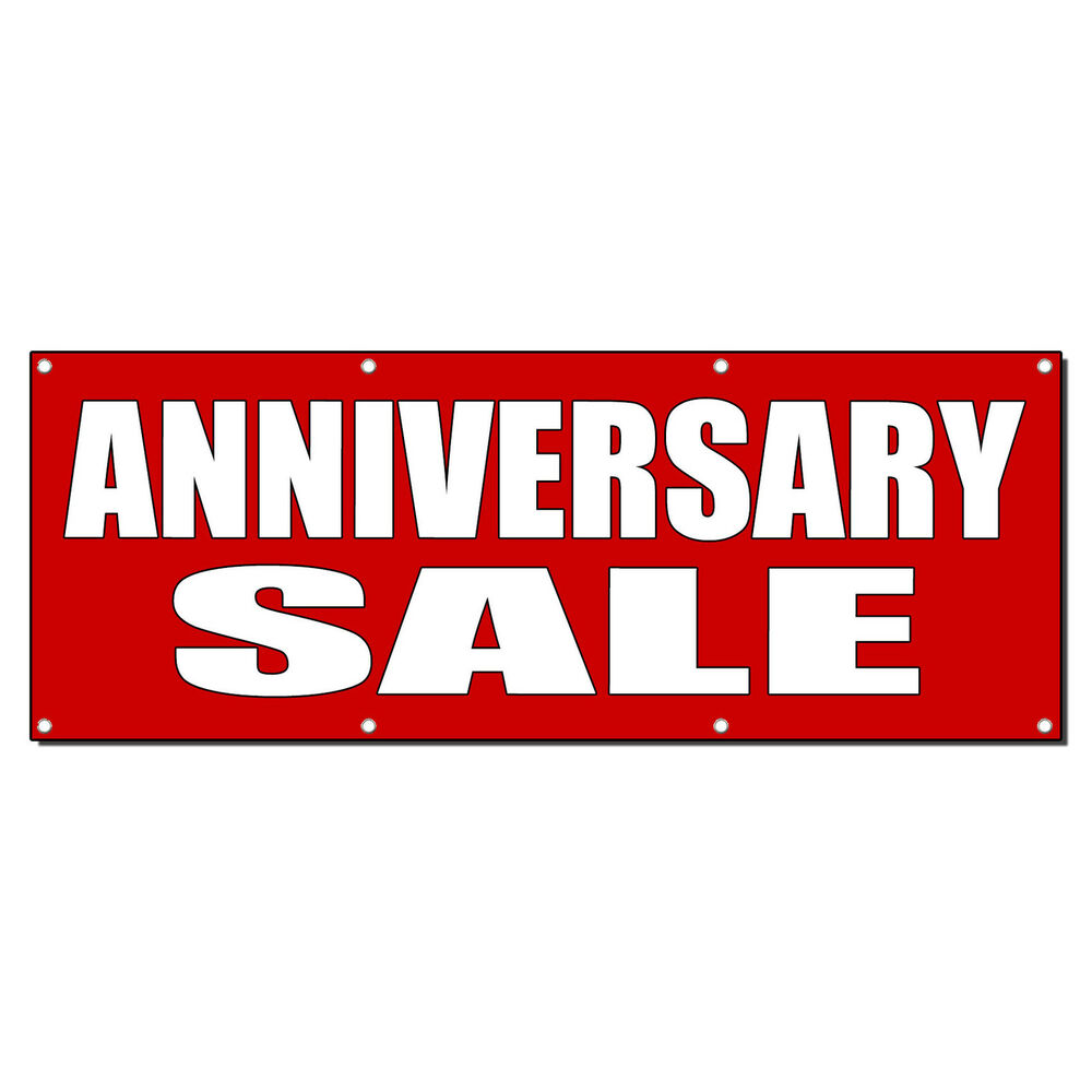 Anniversary sale promotion business sign banner w
