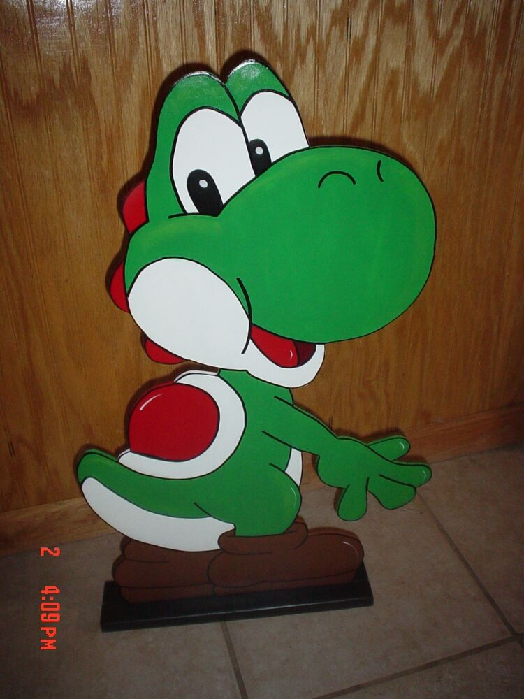 Mario brothers yoshi stand up children 39 s birthday party for Mario decorations