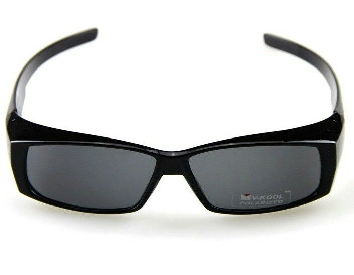 cde43869d1 Details about MAN S SUNGLASSES OVER WEAR FIT GLASSES GOGGLE LIGHT BLACK  FRAME POLARIZED LENS