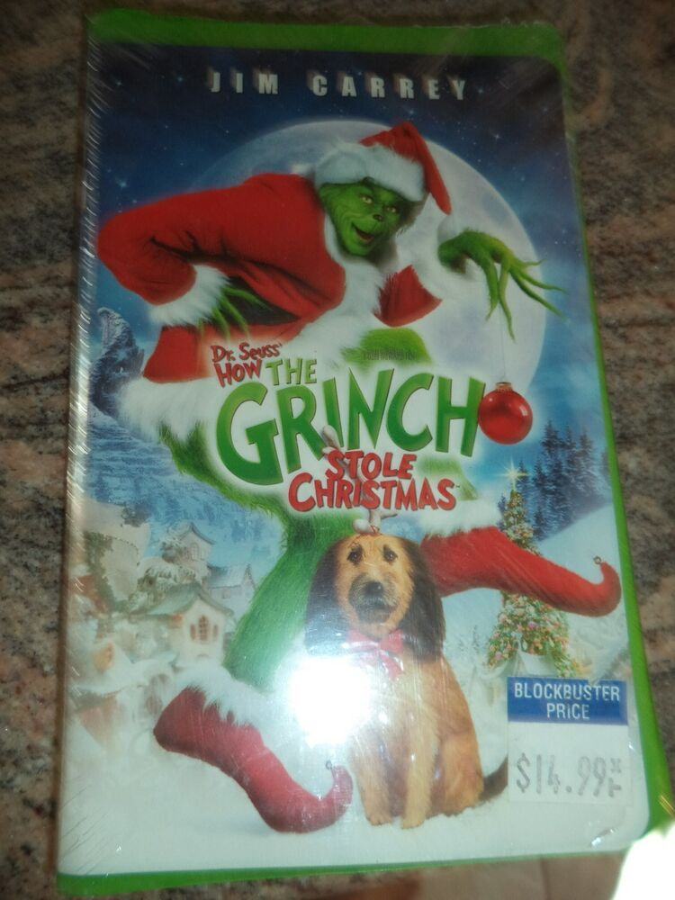 how the grinch stole christmas jim carrey vhs tape 2001 rare mint ebay. Black Bedroom Furniture Sets. Home Design Ideas
