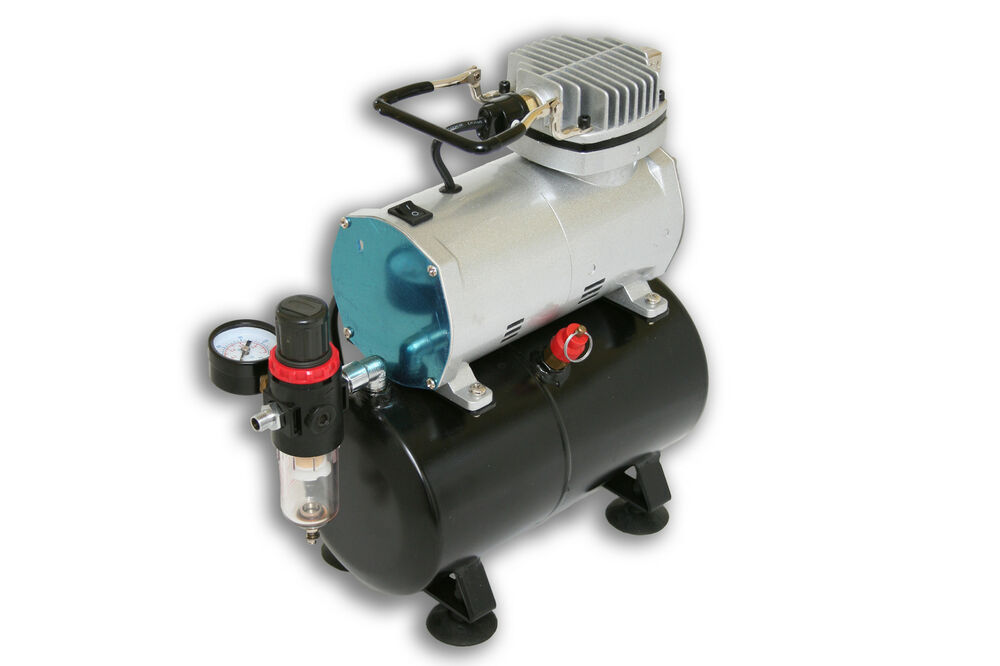 as 186 mini piston type air compressor with 3 litre tank for airbrushing ebay. Black Bedroom Furniture Sets. Home Design Ideas