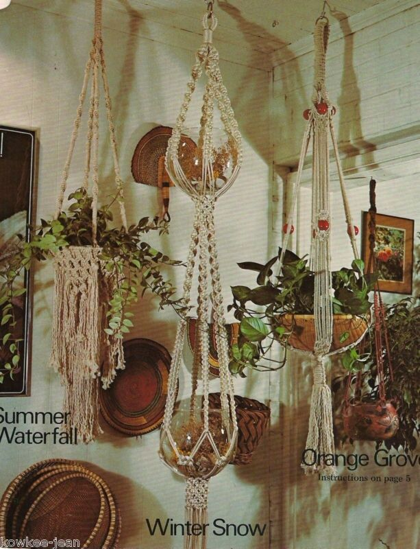 macrame boutique from plant hangers to a bird cage 13 projects see pics ebay. Black Bedroom Furniture Sets. Home Design Ideas