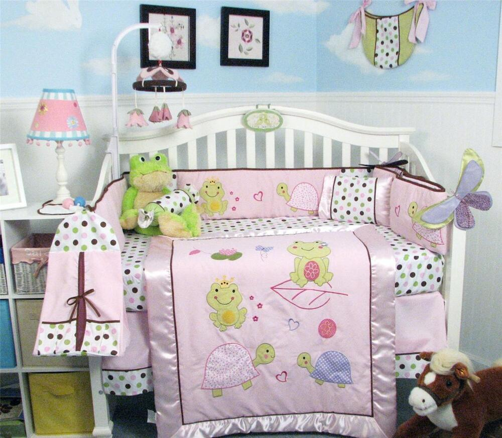 soho emily the frog baby crib nursery bedding set 13 pcs 87340