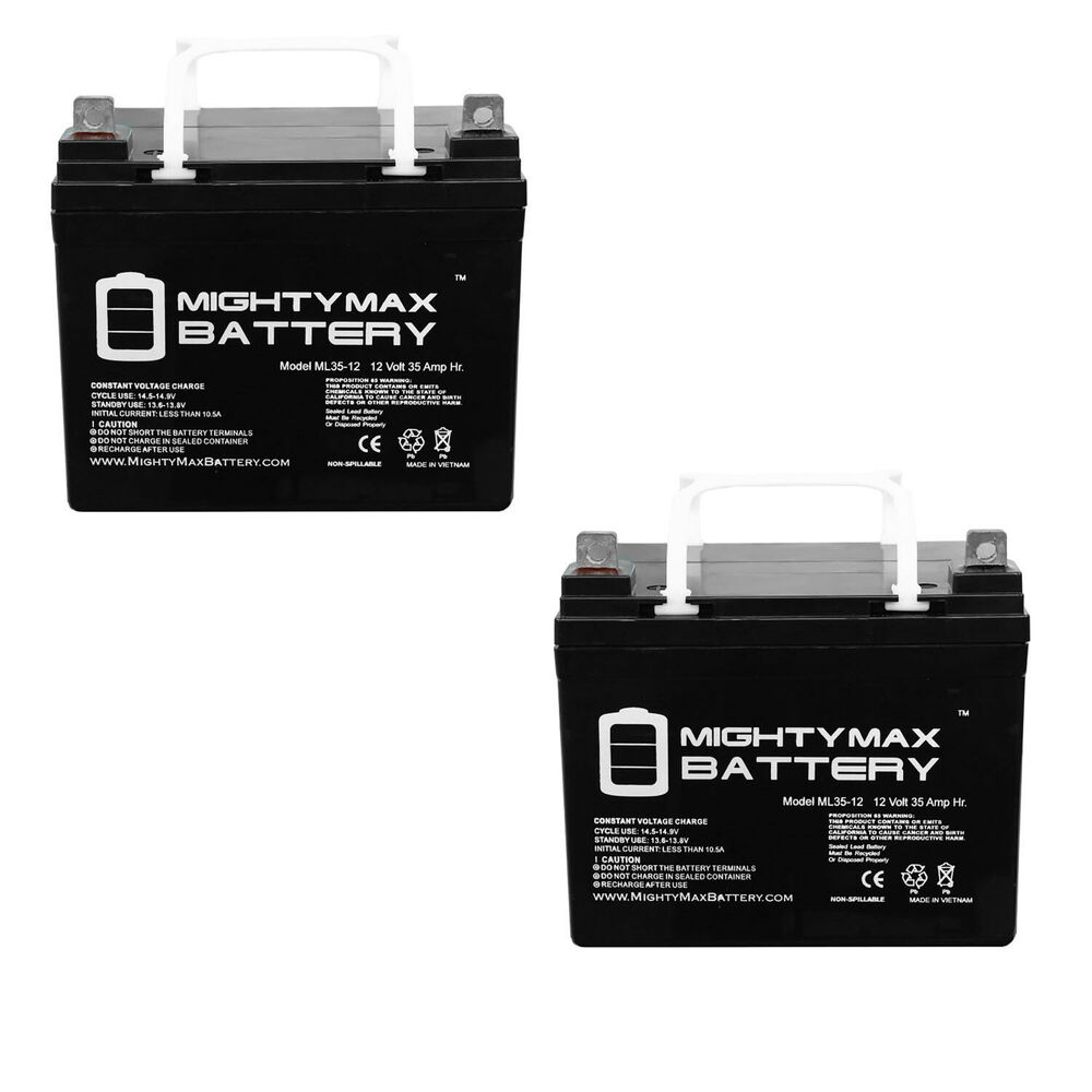 Mighty Max 2 Pack 12v 35ah Wheelchair Battery For Pride