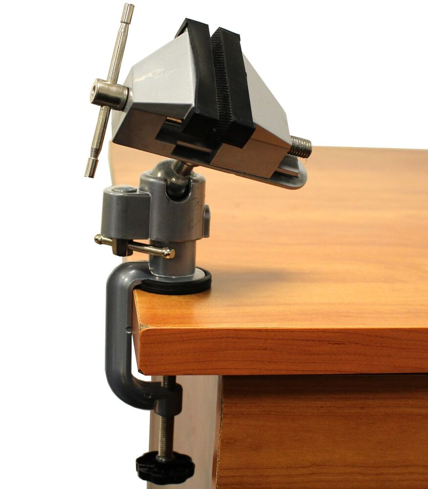 """What Is A Bench Vise Used For: Vises Bench Swivel W/ Clamp 3"""" Tabletop Vise Tilt Rotates"""