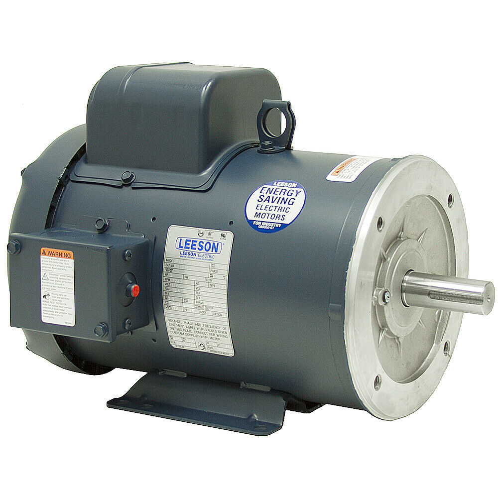 3 hp 1800 rpm 115 208 230 volt ac 184tc leeson for 1800 rpm electric motor