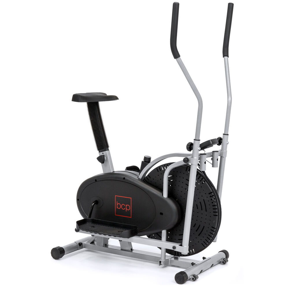 Top Exercise Equipment: Elliptical Bike 2 IN 1 Cross Trainer Exercise Fitness